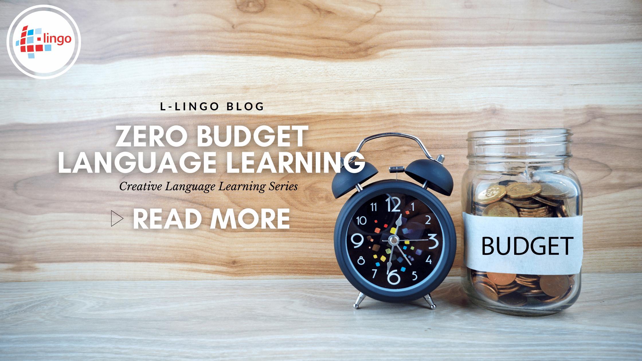 L-Lingo Blog zero budget language learning
